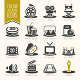 Movie and cinema industry icon set Stock Image
