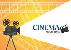 Movie cinema poster design. Vector template banner. For show Royalty Free Stock Photo