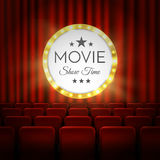 Movie cinema premiere poster design. Vector banner. Movie cinema premiere poster design. Vector template banner Stock Photo