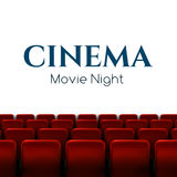 Movie cinema premiere poster design with white screen. Vector background. Royalty Free Stock Photography