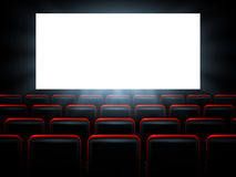 Movie cinema premiere poster design with white screen. Vector background. Royalty Free Stock Photos