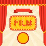 Movie and cinema retro background Stock Images