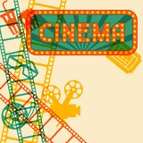 Movie and cinema retro background Royalty Free Stock Image