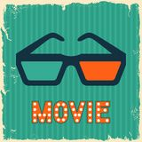 Movie and cinema retro background Royalty Free Stock Photos