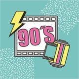Movie cinema 90s retro festival. Vector illustration Stock Photos