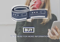 Movie Cinema Ticket Graphic Concept Royalty Free Stock Photos