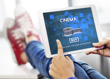 Movie Cinema Ticket Graphic Concept Stock Images