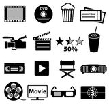 Movie and cinema vector icons set eps10 Stock Photography