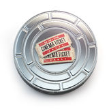 Movie, cinema or video vintage concept. Tickets on retro film re. El or canister. 3d illustration Royalty Free Stock Photos