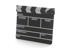 Movie clap board. Traditional wooden clap board for movie production Stock Images