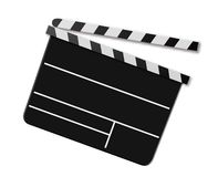 Movie Clap Board. Hollywood movie clap board isolated against a white background Royalty Free Stock Photos