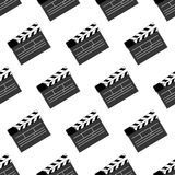 Movie clap pattern. On the white background. Vector illustration Royalty Free Stock Photos