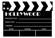 Movie clapboard. Used by movie directors Royalty Free Stock Photography