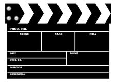 Movie clapboard Stock Photography