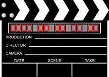 Movie clapboard Royalty Free Stock Photo