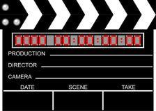 Movie clapboard Royalty Free Stock Photo