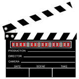 Movie clapboard. Used by movie directors Royalty Free Stock Image