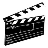 Movie clapboard. Used by movie directors Stock Photo