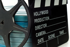 Movie Clapboard stock images
