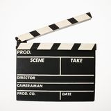 Movie clapboard. royalty free stock photo