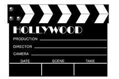 Movie clapboard. In white background stock illustration
