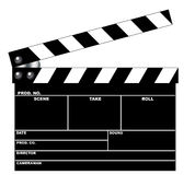 Movie clapboard. In white background royalty free illustration