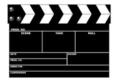 Movie clapboard. In white background vector illustration