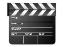 Movie clapboard. For movie directores isolated on white Stock Images