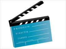 Movie clapboard. Vector of movie clapboard  isolated on a white background Royalty Free Stock Image