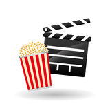 Movie clapboard design , vector illustration Royalty Free Stock Images