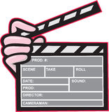 Movie Clapboard Hand Cartoon Royalty Free Stock Photo