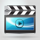Movie clapboard icon Royalty Free Stock Photography