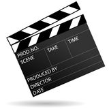 Movie clapboard. Vector illustration of movie clapboard on white background Stock Photos