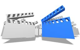 Movie Clapboards Stock Image