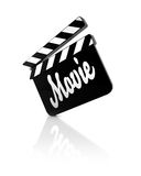 Movie clapper Royalty Free Stock Image