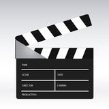 Movie clapper. An illustration of a movie clapper Stock Photo