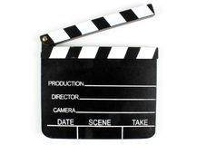 Movie clapper Stock Photo