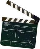 Movie clapper. Vintage movie clapper,,free copy space Stock Photo