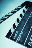 Movie clapper Stock Photography