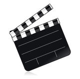 Movie Clapper. Traditional black and white movie clapper with area for adding type royalty free illustration