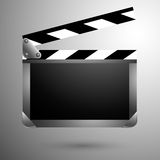 Movie clapper black board. Vector illustration Royalty Free Stock Photo