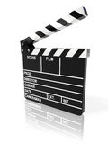 Movie clapper board. On white background (3d render Royalty Free Stock Image