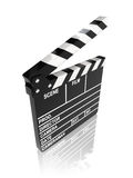 Movie clapper board. On white background - 3d render Royalty Free Stock Photo