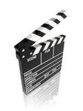 Movie clapper board. On white background - 3d render Vector Illustration