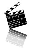 Movie clapper board. On white background Royalty Free Stock Images