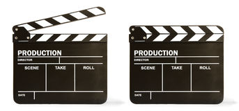 Movie clapper board Royalty Free Stock Photos