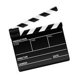 Movie clapper board. 3d movie clapper board isolated on white Stock Photos