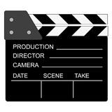 Movie clapper board. Over white Royalty Free Stock Image