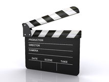 Movie clapper board. On a white background (3d render&#x29 Stock Images