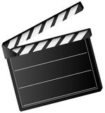 Movie clapper board. Illustration of movie clapper board  isolated on white background - vector Royalty Free Stock Images